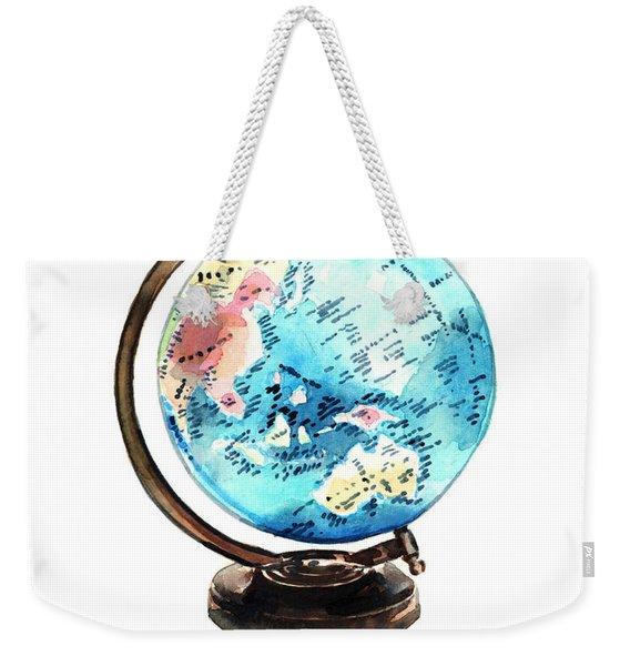 Vintage Globe Love You're My Whole World Weekender Tote Bag