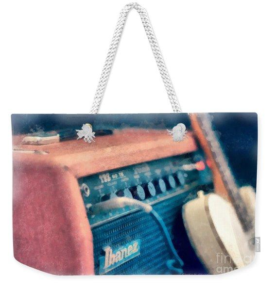 Vintage Guitar Amp Watercolor Weekender Tote Bag