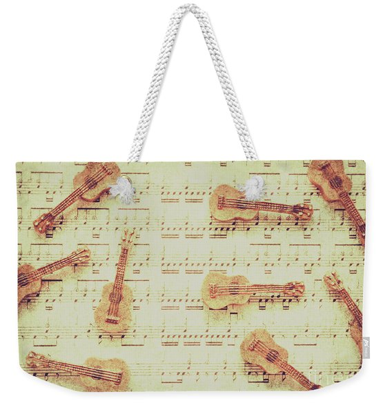 Vintage Guitar Music Weekender Tote Bag