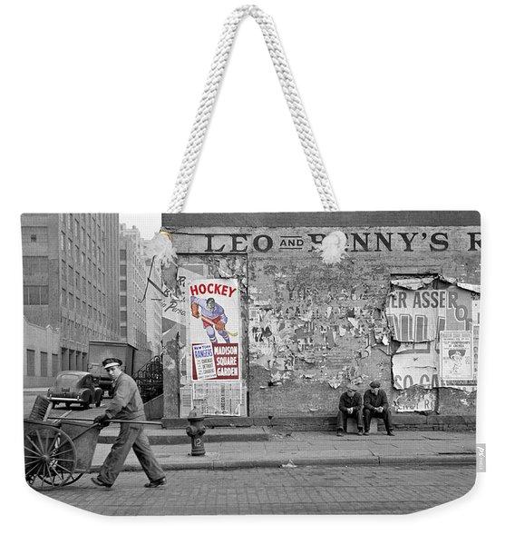 Vintage Hockey Poster Weekender Tote Bag