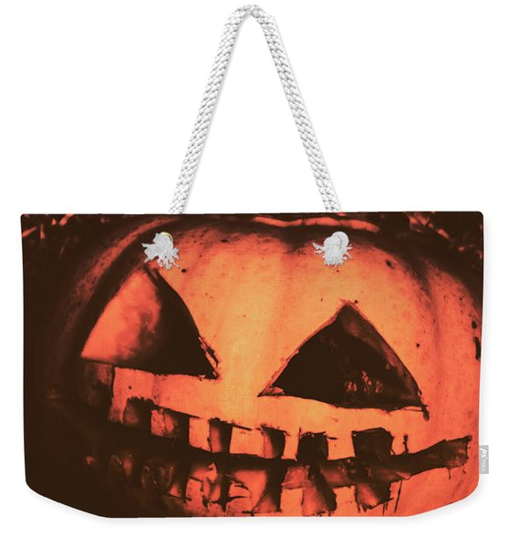 Vintage Horror Pumpkin Head Weekender Tote Bag