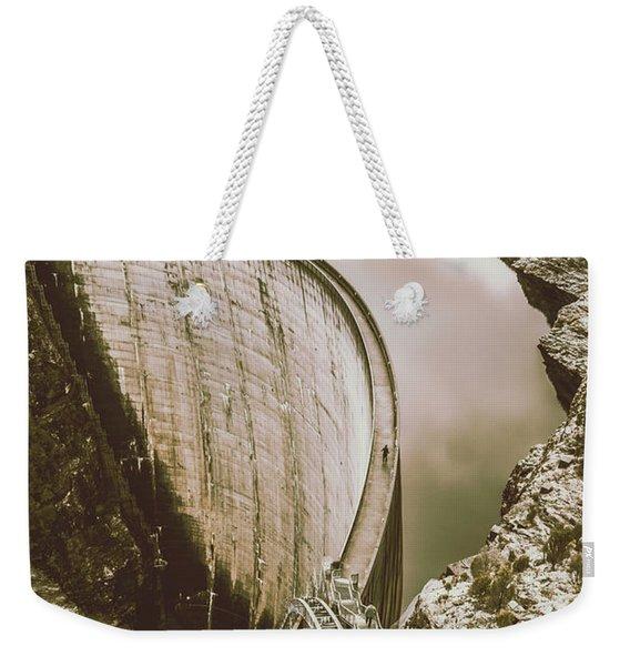 Vintage Hydro-electric Dam Weekender Tote Bag