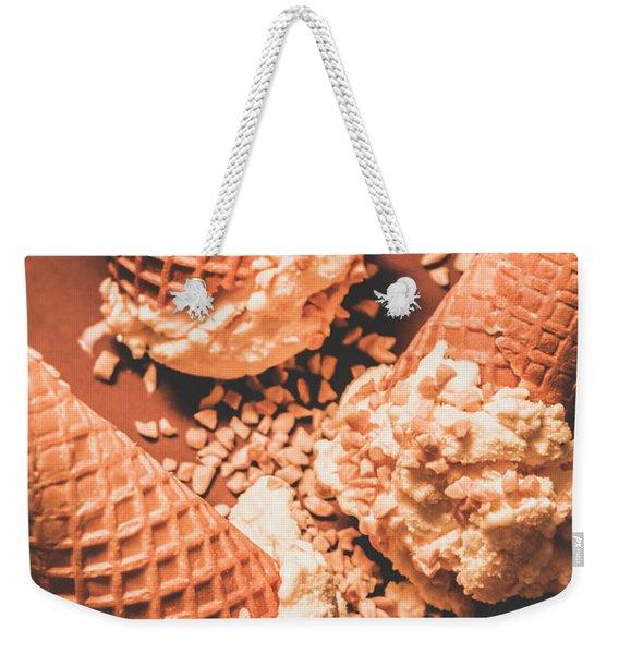 Vintage Ice Cream Shop Art Weekender Tote Bag