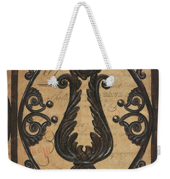 Vintage Iron Scroll Gate 2 Weekender Tote Bag