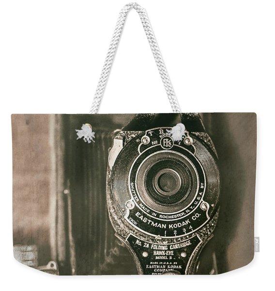 Vintage Kodak Camera Weekender Tote Bag