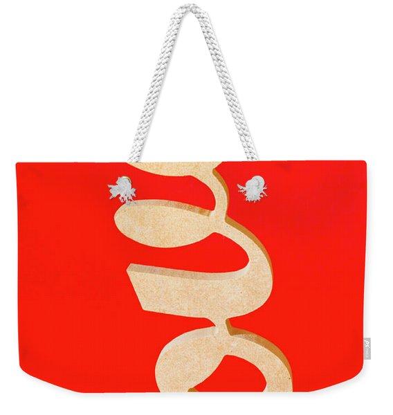 Vintage Love Sign Weekender Tote Bag