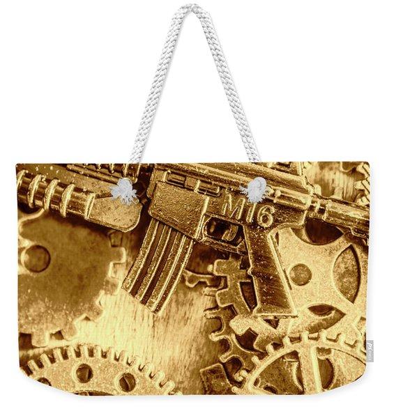 Vintage M16 Artwork Weekender Tote Bag