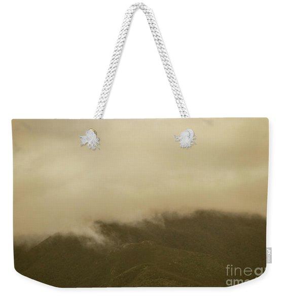 Vintage Mountains Covered By Cloud Weekender Tote Bag