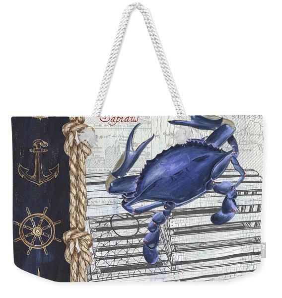 Vintage Nautical Crab Weekender Tote Bag
