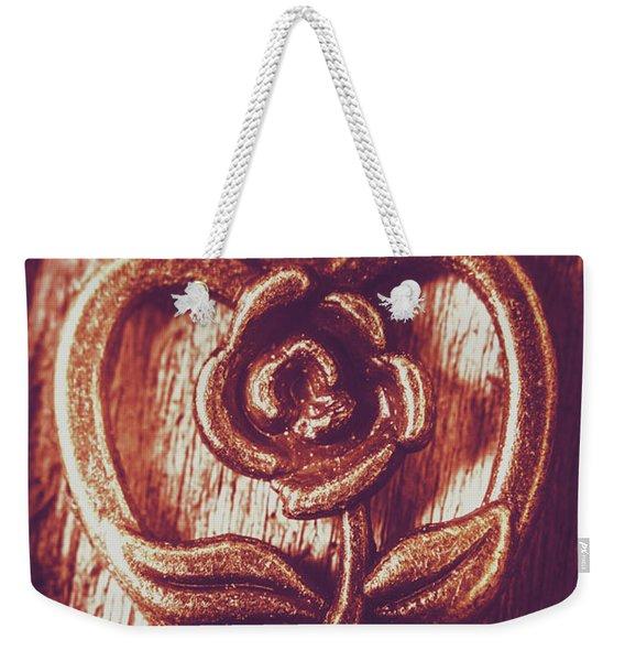 Vintage Ornamental Rose Weekender Tote Bag