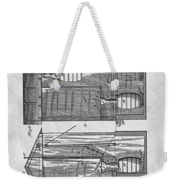 Vintage Outhouse Patent Weekender Tote Bag