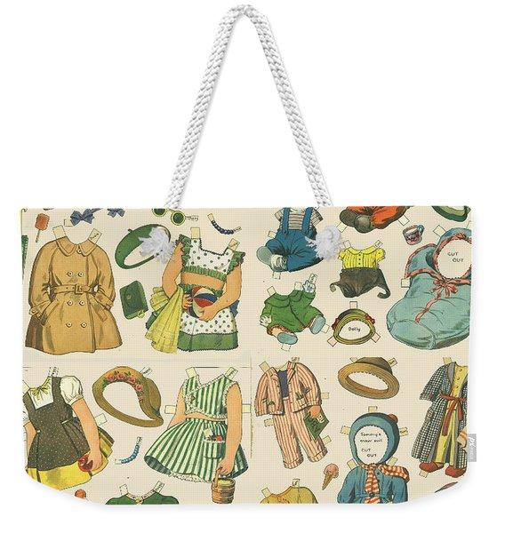 Vintage Paper Dolls  Weekender Tote Bag