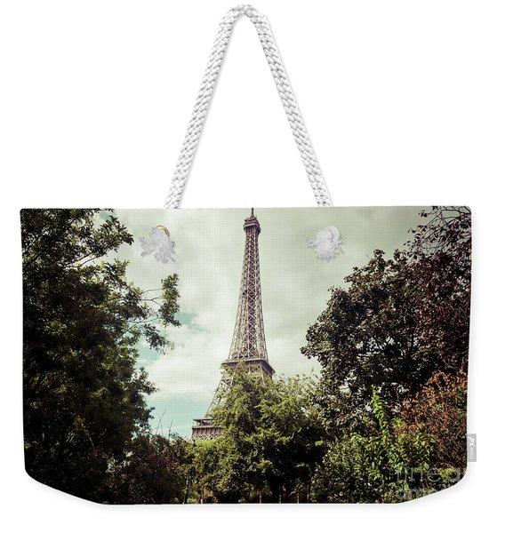 Vintage Paris Landscape Weekender Tote Bag