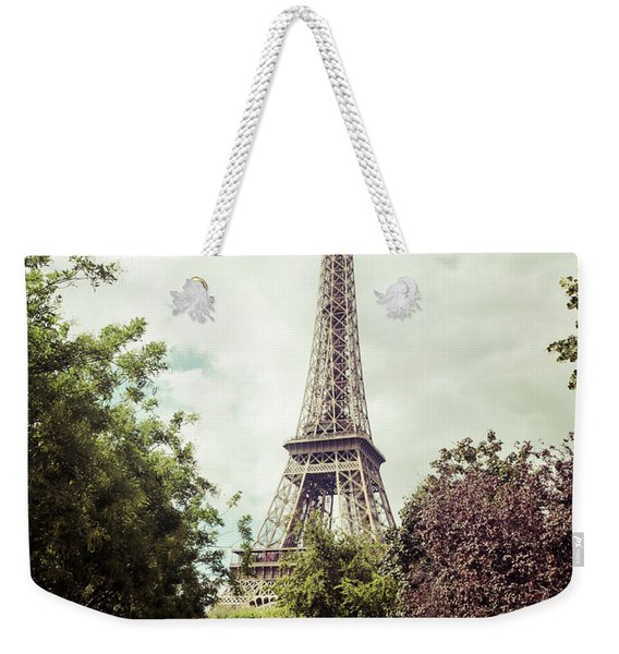 Vintage Paris Weekender Tote Bag