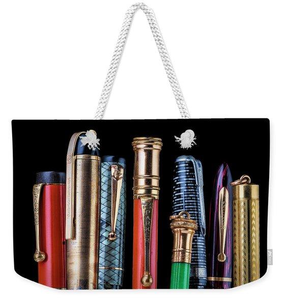 Vintage Pen Collection Weekender Tote Bag