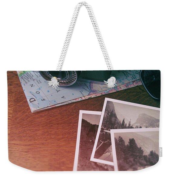 Vintage Photo Camera And Prints Weekender Tote Bag