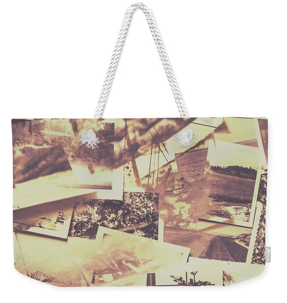 Vintage Photo Design Abstract Background Weekender Tote Bag