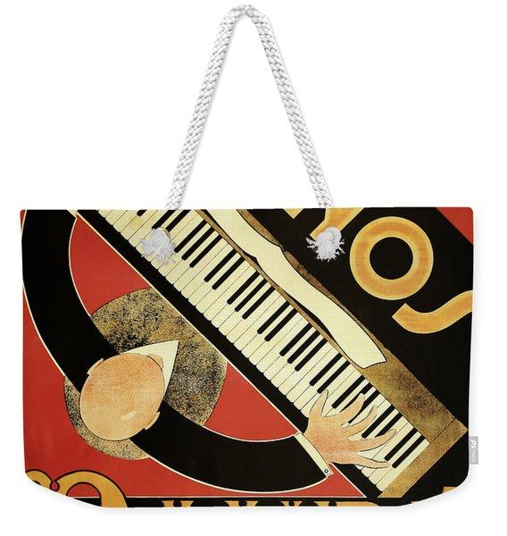 Vintage Piano Art Deco Weekender Tote Bag