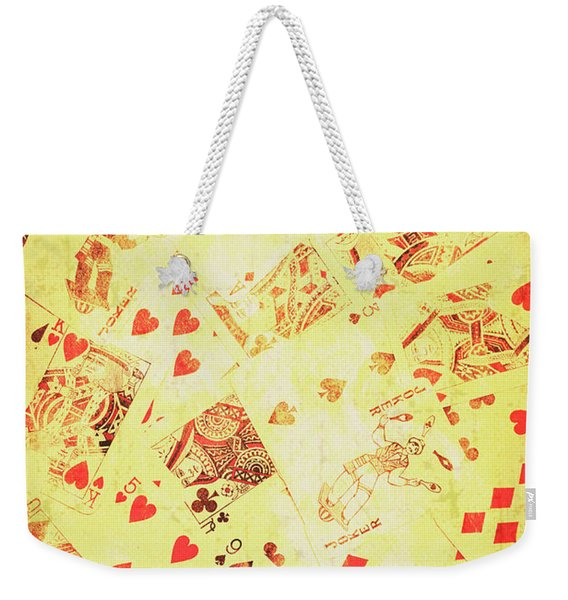 Vintage Poker Background Weekender Tote Bag