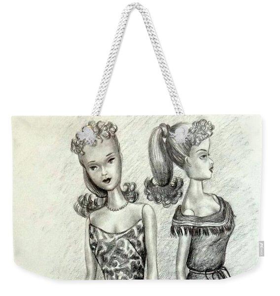 Vintage Ponytail Barbie Weekender Tote Bag