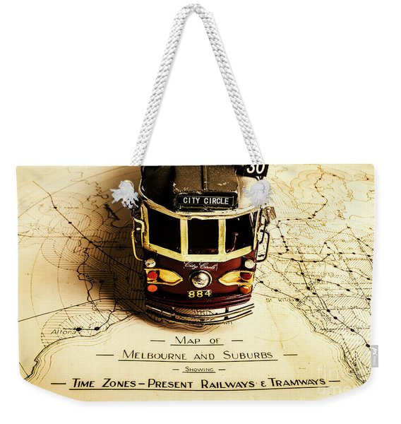 Vintage Railways And Tramways Weekender Tote Bag
