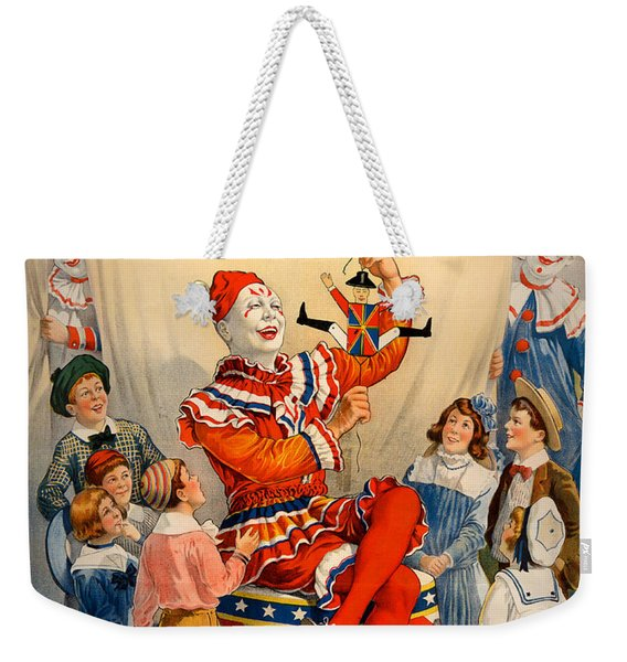Vintage Ringling Brothers And Barnum And Bailey Combined Circus Weekender Tote Bag