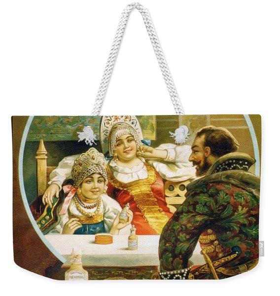Vintage Russian Toiletries Advertisement Poster Weekender Tote Bag