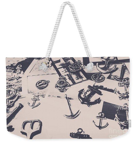 Vintage Sailing Art Weekender Tote Bag