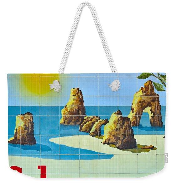 Vintage Schweppes Algarve Mosaic Weekender Tote Bag