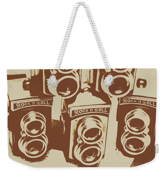 Vintage Snapshots And Old Cameras Weekender Tote Bag