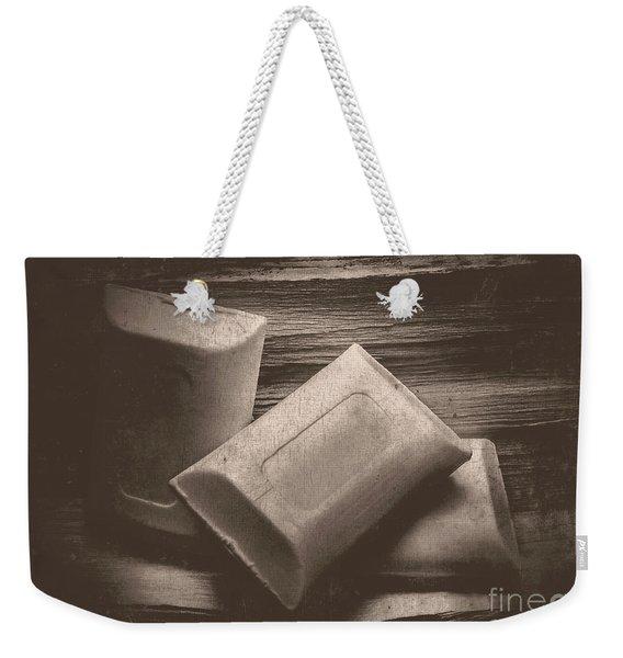 Vintage Soap Weekender Tote Bag