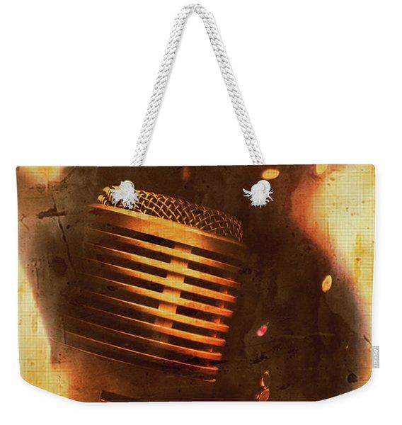 Vintage Sound Check Weekender Tote Bag