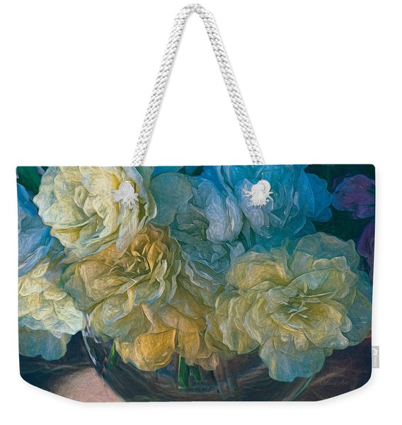 Vintage Still Life Bouquet Painting Weekender Tote Bag