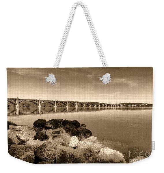 Vintage Susquehanna River Bridge Weekender Tote Bag