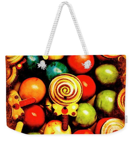 Vintage Sweets Store Weekender Tote Bag