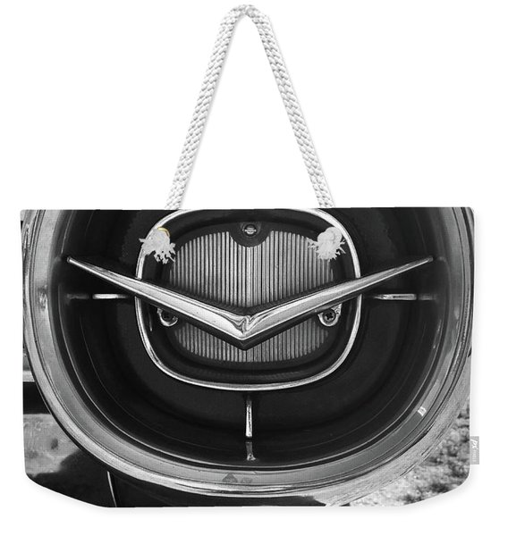 Vintage Tail Fin In Black And White Weekender Tote Bag
