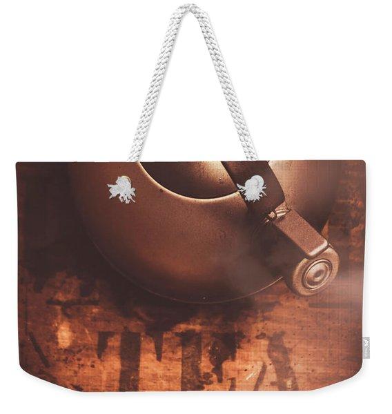 Vintage Tea Break Weekender Tote Bag