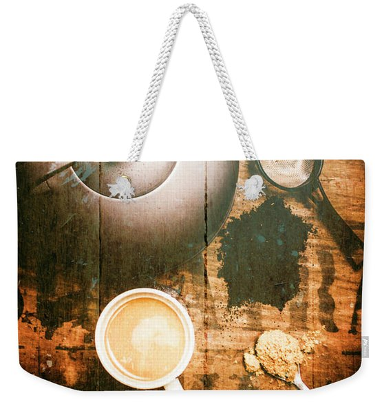 Vintage Tea Crate Cafe Art Weekender Tote Bag