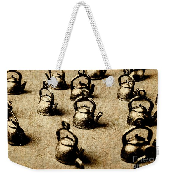 Vintage Teapot Party Weekender Tote Bag
