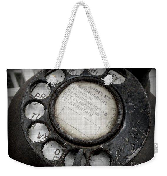 Vintage Telephone Weekender Tote Bag