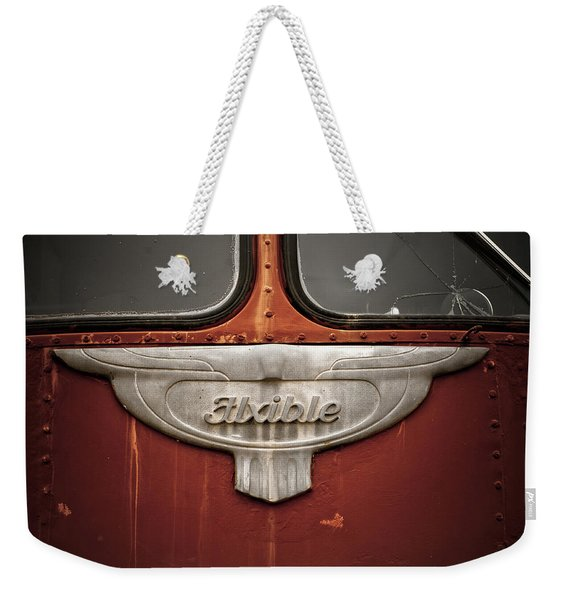 Vintage Tour Bus Weekender Tote Bag