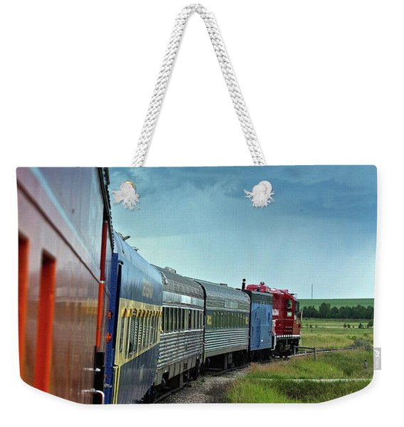 Vintage Train Weekender Tote Bag