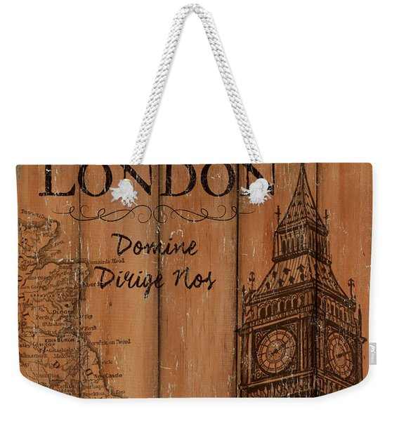 Vintage Travel London Weekender Tote Bag