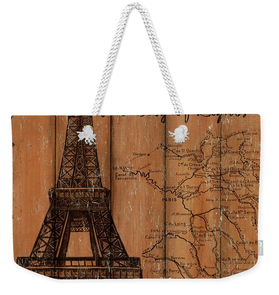 Vintage Travel Paris Weekender Tote Bag