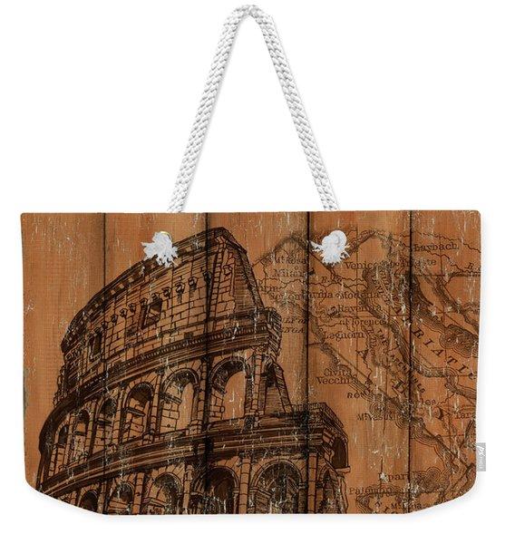 Vintage Travel Rome Weekender Tote Bag