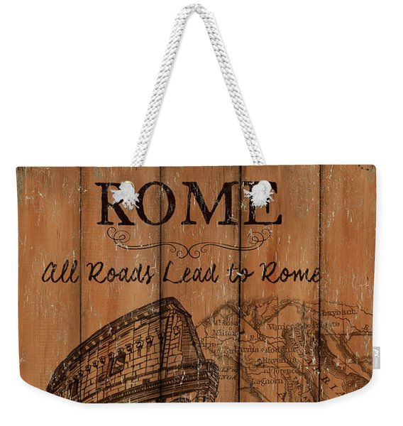 Vintage Travel Rome Weekender Tote Bag
