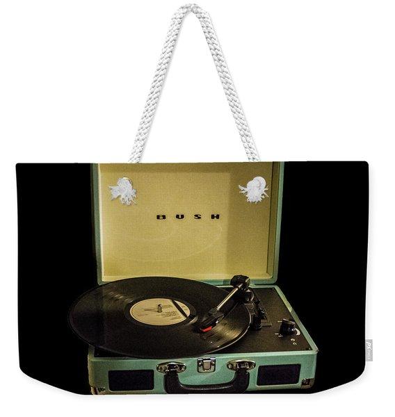 Vintage Vinyl Weekender Tote Bag