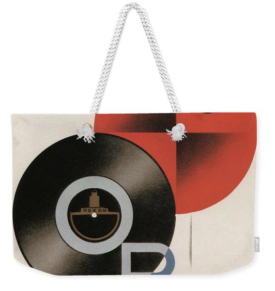 Vintage Vinyl Records Art Deco Weekender Tote Bag