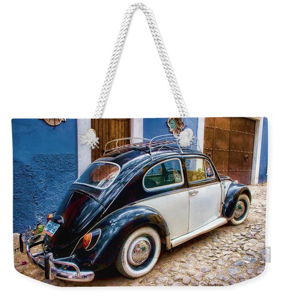 Vintage Vw Bug In Mexico Weekender Tote Bag