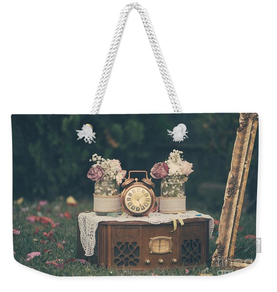 Vintage Wedding Decoration Still Life Weekender Tote Bag